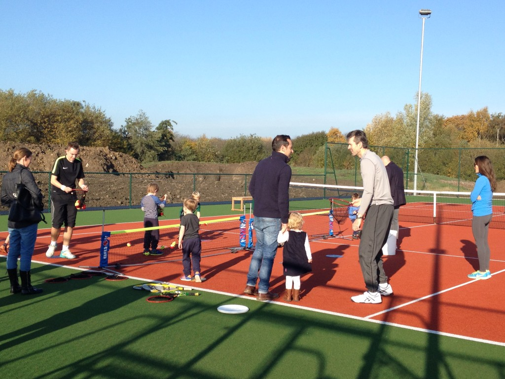 Just a few of the younger attendees at the Open Day with lead coach Matt McTurk.